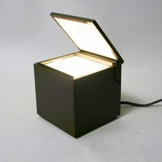 Lampe de chevet Cuboluce marron Cini & Nils