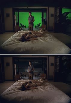 hollywood-movies-visual-effects-before-and-after The Twilight Saga: Breaking Dawn Famous Movie Scenes, Famous Movies, Chroma Key, Boardwalk Empire, Movie Special Effects, Gravure Illustration, Most Popular Movies, Cinematic Photography, Twilight Pictures