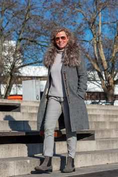 Oversized Mantel - wie trage ich das It-Piece des Winters? - women2style Oversized Mantel, Smart Casual, Fur Coat, Winter Jackets, Fall, Outfits, Fashion, Loose Pants, Fashion Hairstyles