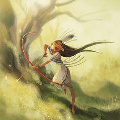 "Jung Ha (@hzzzha) en Instagram: ""Native girl. one of my artbook's illustrations"