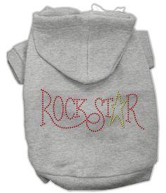 Rockstar Rhinestone Dog Hoodie