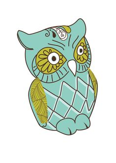 My Great Grandma Christine was such a cool, crafty lady who loved owls. Throughout my childhood I remember going to visit her at her hou. Templates Printable Free, Printable Wall Art, Free Printables, Owl Wallpaper, Stencils, Love Illustration, Owl Art, Free Prints, Illustrations