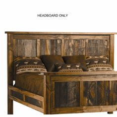 We proudly offer this Wyoming Reclaimed Wood Headboard and other fine rustic American-made reclaimed wood furniture and décor. Browse our rustic furniture catalogs now.  Free Delivery to 48 states.