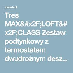 Tres MAX/LOFT/CLASS Zestaw podtynkowy z termostatem dwudrożnym deszczownicą 380 i zestawem punktowym kolor chrom 206.352.04
