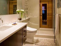 Marble - simple, Contemporary, Modern, French, European, Undermount, Master