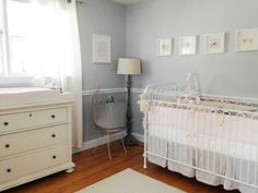 Traditional Soft Gray and Pale Pink Nursery - #nursery