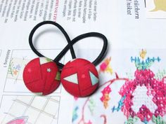 Hey, I found this really awesome Etsy listing at https://www.etsy.com/listing/245791842/button-ponytail-holders-red-ponytail