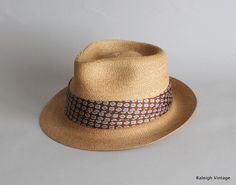 Vintage 1950s MENS Hat : 50s Hemp Straw Fedora. $68.00, via Etsy.