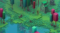 Isometric Swamp on Behance