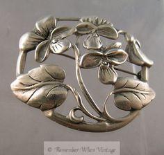 Vintage Danecraft Sterling Flower and Leaf Brooch: I have this brooch, it belonged to my grandmother