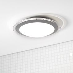 LEDlux Lustre 330mm Dimmable Flush Mount in White/Silver.