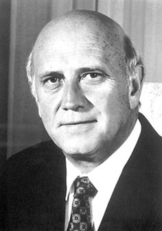 1993 Frederik Willem de Klerk: 1936-: South Africa. He released Nelson Mandela from prison and the two politicians worked together to bring an end to the policy of racial segregation. He had been a firm upholder of white privilege but realized that apartheid was leading to economic and political bankruptcy. Secret negotiations with Mandela and the ANC liberation movement led to a new constitution with equal voting rights for every population group in the country.