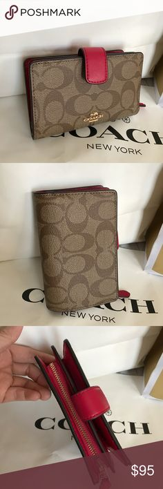 Coach Wallet 100% Authentic Coach Wallet, brand new!.color Bright Pink/Brown. Coach Bags Wallets