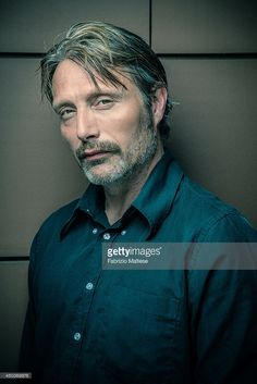 Actor Mads Mikkelsen is photographed in Cannes, France.