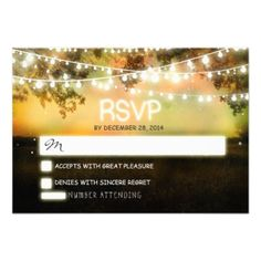 night lights - lanterns - twinkle lights wedding RSVP #lanterns #rsvp #night #lights #rsvp #wedding #rsvp #twinkle #lights #rsvp #wedding #reply #card #wedding #response #cards #fall #autumn #colorful #colors