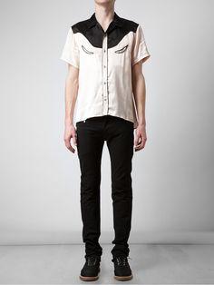 Mihara Yasuhiro Satin Western Shirt