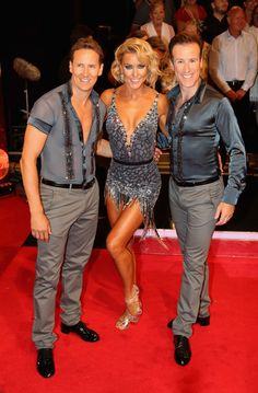 Brendan Cole, Natalie Lowe and Anton Du Beke arrive for the launch of 'Strictly Come Dancing 2016' at Elstree Studios on August 30, 2016 in Borehamwood, England.