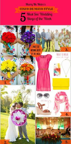 HAPPY CINCO DE MAYO! Marry Me Metro's Five Must See #Wedding #Blogs of the week, #Mexican Style with a #cincodemayo version! http://marrymemetro.com/2013/05/03/editors-choice-five-must-see-wedding-blogs-of-the-week-cinco-de-mayo-style/