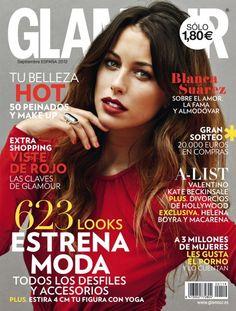 Blanca Suárez: La nueva chica Almodóvar es también en Glamour portada del número de septiembre 2012.