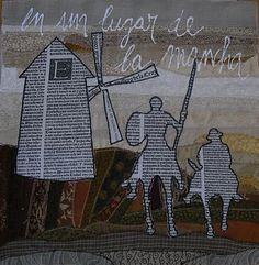 Colage a base de texto de El Quijote