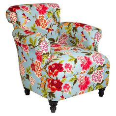 This cotton-upholstered arm chair is bright and bold, but its classic silhouette gives it an elegant feel that's at home in almost any decor. Put it in your ...