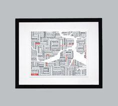one more Boston typographic map,  7.5 x 9.5, $20