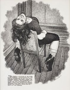 R. Crumb, The Playful Attitude of the Model, 2002. Published in Art & Beauty Magazine (Fantagraphics Books), no 2, 2003. Private collection, Antwerp. Photo: Courtesy Paul Morris and David Zwirner, New York © Robert Crumb