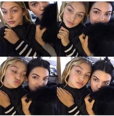 Kendall playing dress up in her fur lined hood