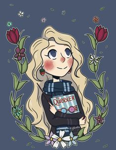 fanart luna luna lovegood harry potter harry potter fan art wizard illustration drawing digital art artsyashleystudio.tumblr.com