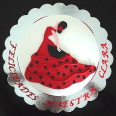 Party Mate Cakes Elegant Birthday Cakes, Themed Birthday Cakes, Themed Cakes, Dancer Cake, Flamenco Party, Fishing Cakes, Tapas Party, Mom Cake, Pretty Cupcakes