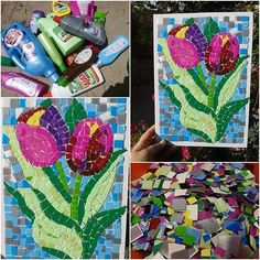 #mulpix Mosaico feito com embalagens plásticas. Muito top! ⠀⠀⠀⠀⠀⠀⠀⠀⠀⠀⠀⠀⠀⠀⠀⠀⠀⠀⠀⠀ ⠀⠀⠀⠀⠀⠀ ➡️➡️Para mais dicas: artesanatopassoapasso.com.br   #artesanato  #artesanatopassoapasso  #reciclagem  #diy  #artecomembalagemplástica  #inspiração  #euamoartesanato