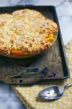 Lavender Peach Cobbler | The Baking Bird