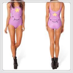 "Adventure Time Sexiest Lingerie Bikini New 2014 Skirts Women Lumpy Space Princess Smile Galaxy Swimsuit ""black milk style"" $23.98"