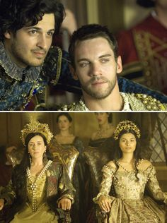 The Tudors (2007 - 2010) Starring: Emmanuel Leconte  as Francis I of France, Jonathan Rhys Meyers as Henry VIII of England, Maria Doyle Kennedy as Catherine of Aragon, and Gabrielle Wright as Queen Claude.