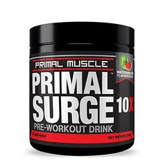 Primal SURGE Pre Workout Supplement - Best Nitric Oxide Preworkout Energy Drink with Beta Alanine