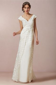 BHLDN's spring collection landed last week and boy do we like it! The budget conscious online bridal store has another incredible collection full of the dreamiest pieces, with gowns dripping in ornate details such as iridescent beading, the most delicate floral embroidery and lasing of tulle and silk for brides looking to literally float down the aisle. Inspired by sun-bleached seascapes of Greece, see possibly its prettiest collection yet here...