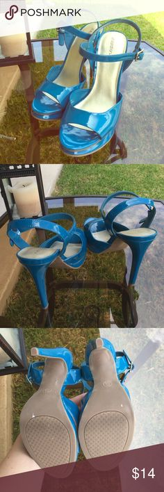 New Xhilaration heels Beautiful jade color- perfect on a white dress; perfect for summer. Never worn. Size 8.5. No low ball offers, price is already low. Xhilaration Shoes Heels
