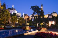 Portmeirion Piazza at night