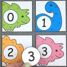 dinosaur number match for preschool and kindergarten