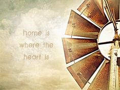 """Items similar to Old Windmill Photo. Home Quote Photo. """"Home Is Where The Heart Is"""" Photo. Farm Windmill, Windmill Decor, Old Windmills, Denim Art, Old Barns, Where The Heart Is, Pebble Art, Rustic Style, Pretty Pictures"""