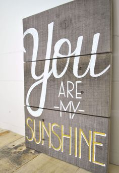 Reclaimed Wood Wall Sign by A Piece of Heart on Etsy-Reminds me of our Daddy...he used to always sing that song to us!  Miss you Daddy!