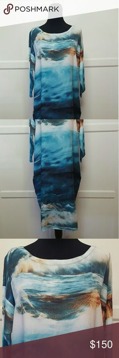 "Anthropologie Midi Dress By; Erica Tandy Retail $298 Size Medium   Length 41"" Armpit to armpit approx 26"" flat Waist approx 26"" flat Anthropologie Dresses Midi"