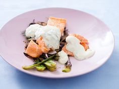 Roasted Salmon and Fennel with Orange Yogurt Sauce
