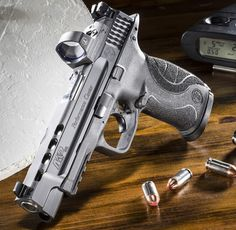 announced that the master gunsmiths of its renowned Performance Center have added four new competition-ready models to the M&P pistol line with the availability of the M&P Performance Center Ported series. Weapons Guns, Guns And Ammo, M&p 9mm, 9mm Pistol, Revolvers, Smith N Wesson, Shooting Guns, Cool Guns, Tactical Gear