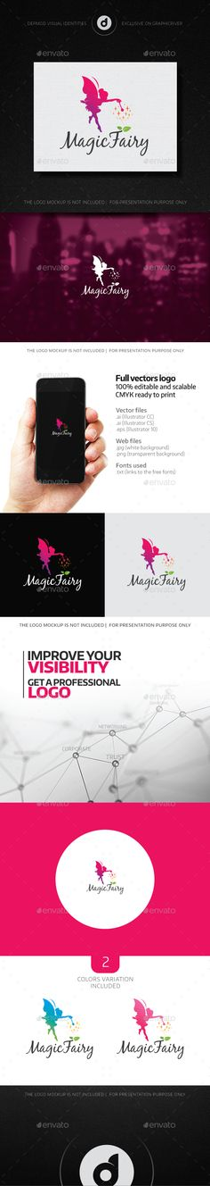 Magic Fairy Logo Template Vector EPS, AI. Download here: http://graphicriver.net/item/magic-fairy-logo/14667180?ref=ksioks