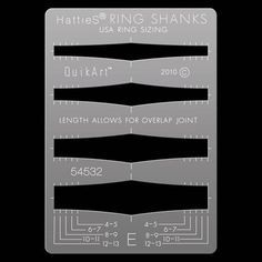 HattieS® QuikArt™ Ring Shank Templates - E