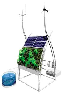 """Inka Biospheric Systems has developed a completely integrated, closed loop """"micro-farm"""" ."""