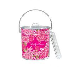 Lilly Pulitzer monogrammed ice bucket
