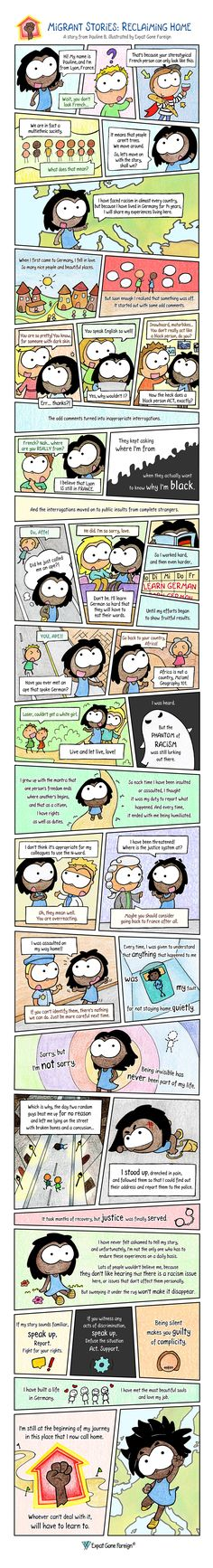 A few months ago I had the pleasure of meeting an inspiring woman who shared with me her migrant story. A story of strength, resilience and kindness that the world really needs to hear. ~ #Migrant #Stories #Reclaiming #Home #Living #Abroad #Racism #Discrimination #Diversity #LetsTalkRacism World Need, A Comics, Diversity, Strength, Let It Be, Woman, Life, Women, Electric Power