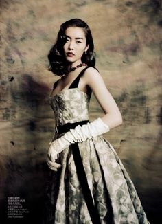"Liu Wen in ""Dream Away"" by Paolo Roversi for Vogue China, September 2010"